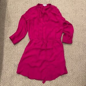 ARITZIA Babaton Pink Silk Dress Shirt size Medium